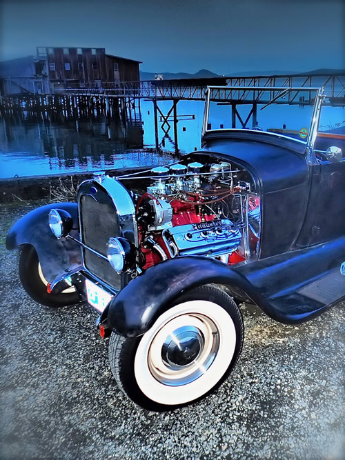 rat rod blue